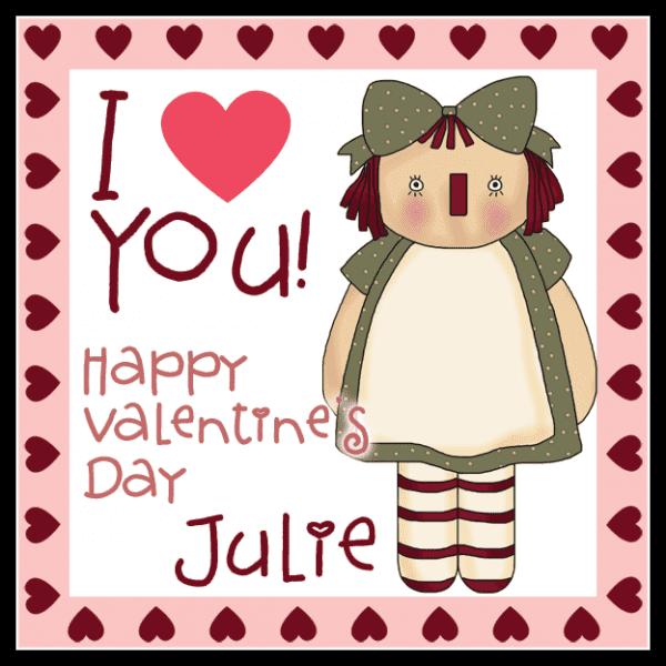 Valentine Annie Square Sticker