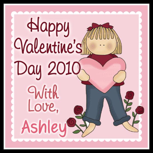 Valentine Girl 2 Square Sticker