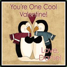 Penguin Love Square Sticker