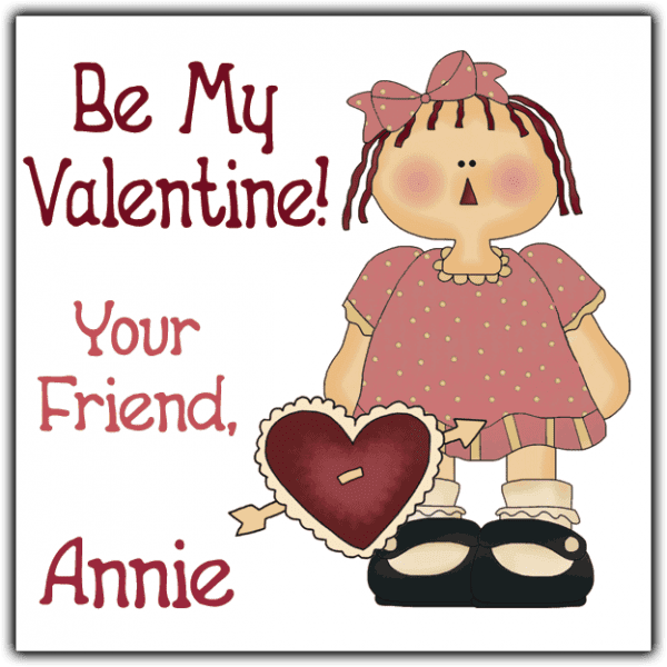Red Heart Annie Square Sticker