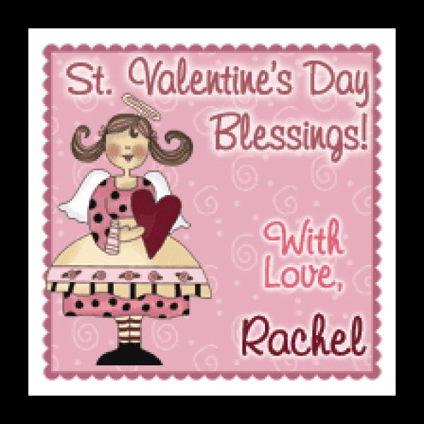 Valentine Angel 2 Square Sticker