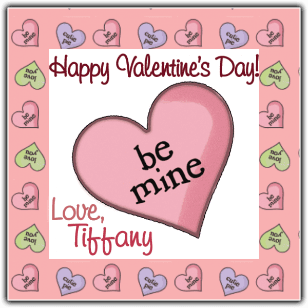 Be Mine Candy Heart Square Sticker