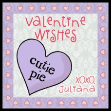 Cutie Pie Candy Heart Square Sticker