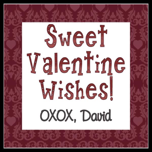 Sweet Valentine Wishes 2 Square Sticker